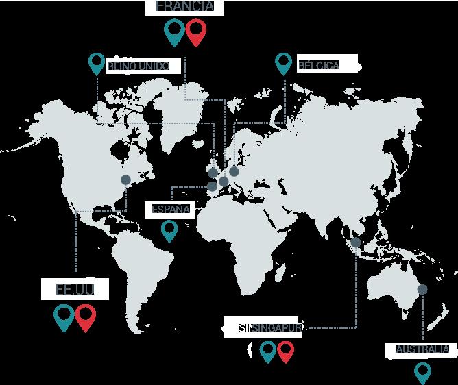 centros de datos mundo y oficina de Esker en el mundo, seguridad