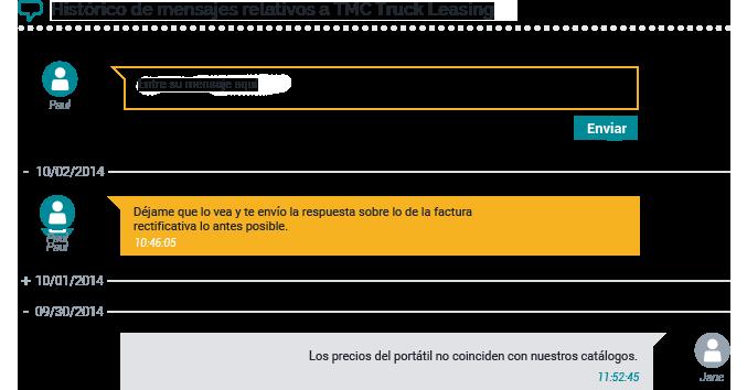 Chat Portal para proveedores ciclo de compras