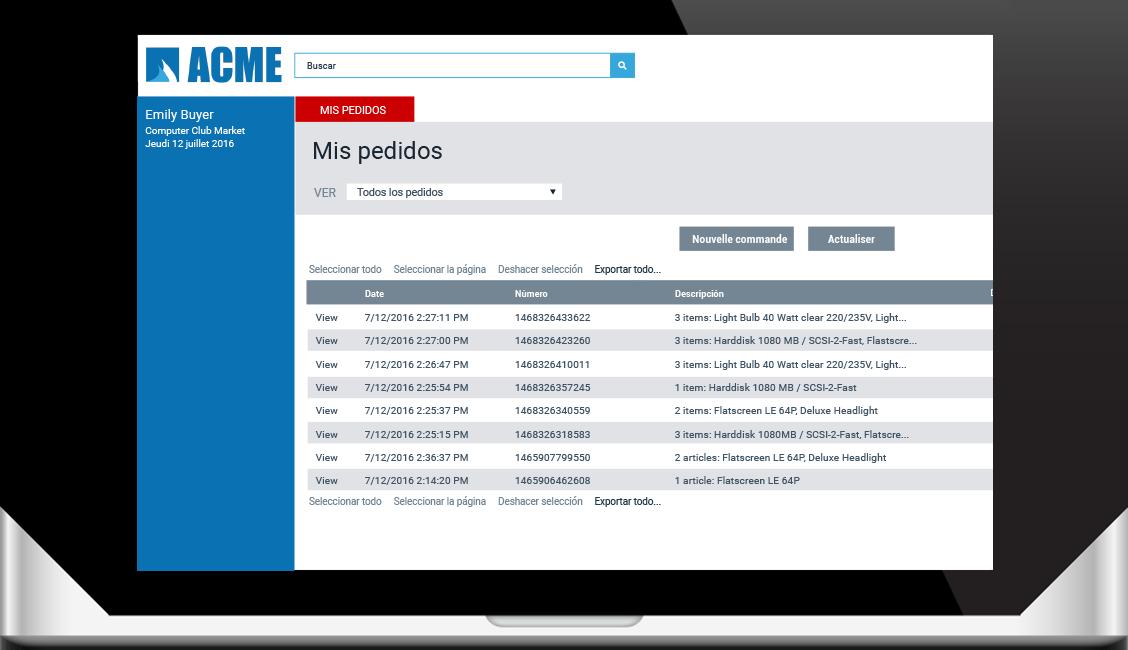 Portal personal personalizada ciclo de venta