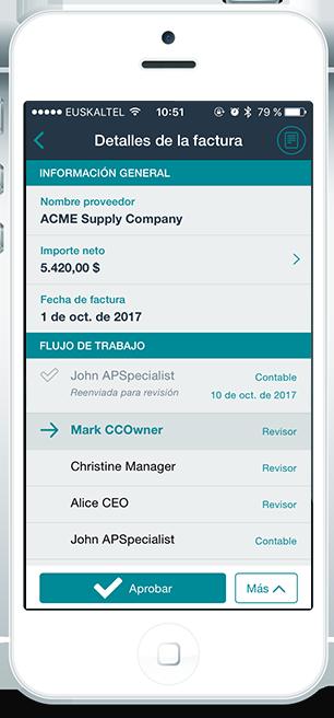 aplicación móvil Esker deliveryware gestión de peticiones