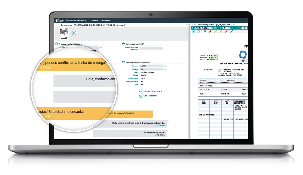 herramientas contables archivado en línea chat identificación facturas