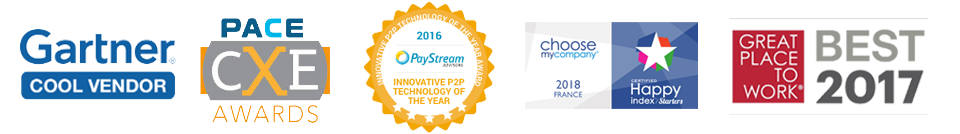 Premios Gartner Pace CXE PayStream ChooseMyCompany GreatPlacetoWork